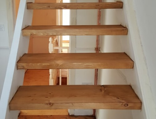 Before and after photos of stairs