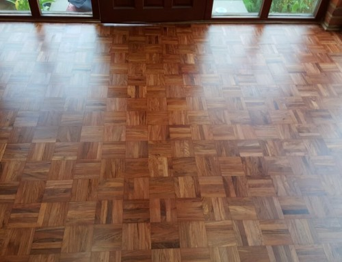 Merbau restored floor with satin clear finish