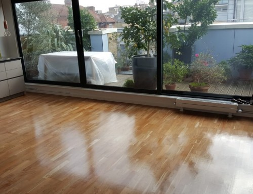 Renovated engineered floor with nice satin finish