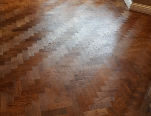 The magnificent look of the natural Merbau parquet with clear matt finish