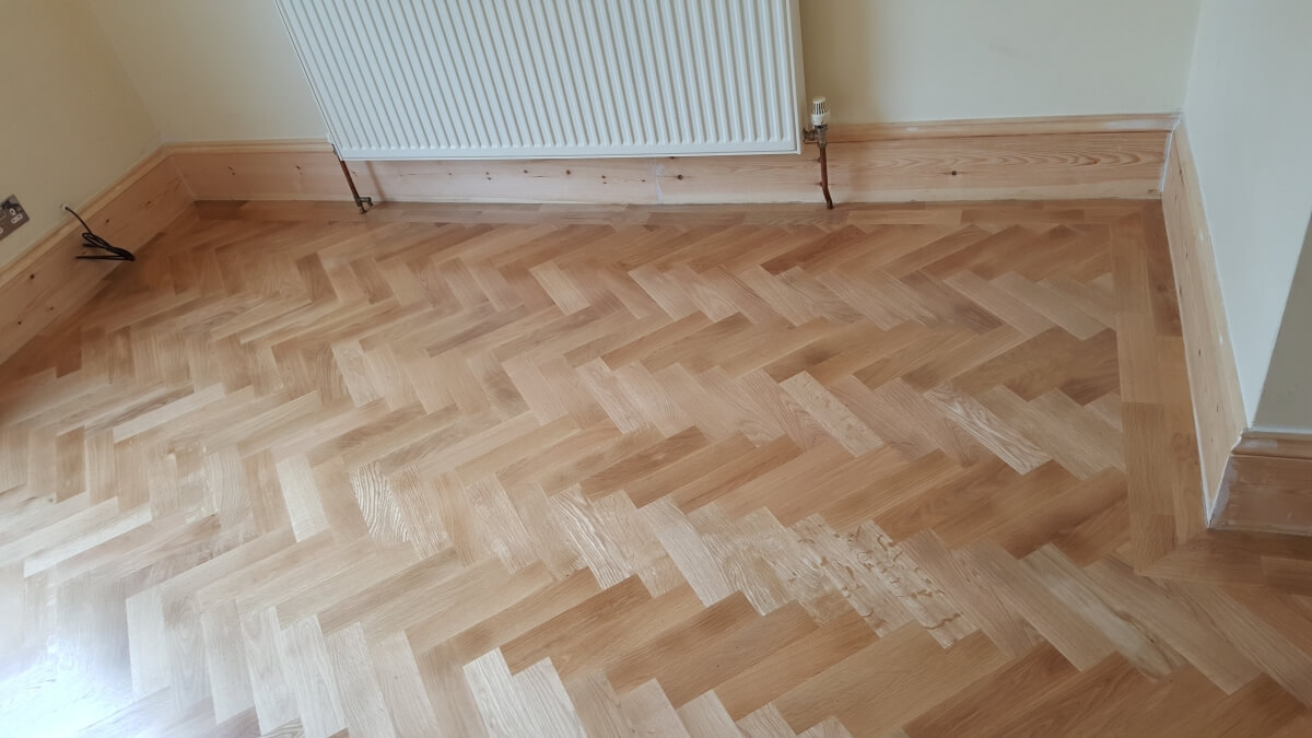 Fit Parquet Floor Herringbone Style With Border Floors