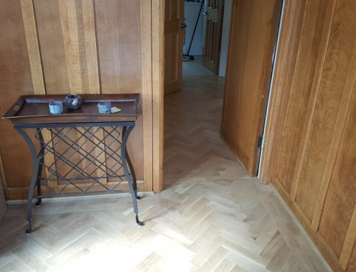 Renovating and extending an original parquet floor